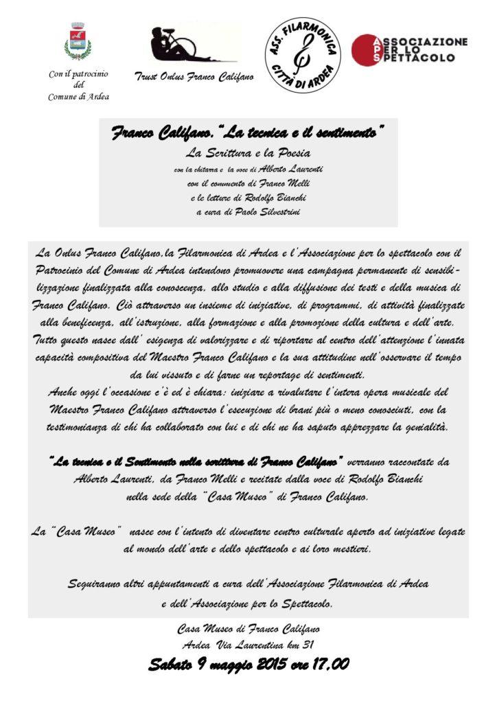 2015 - LA TECNICA E IL SENTIMENTO - 1