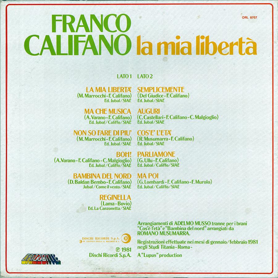 La mia libertà - Franco Califano
